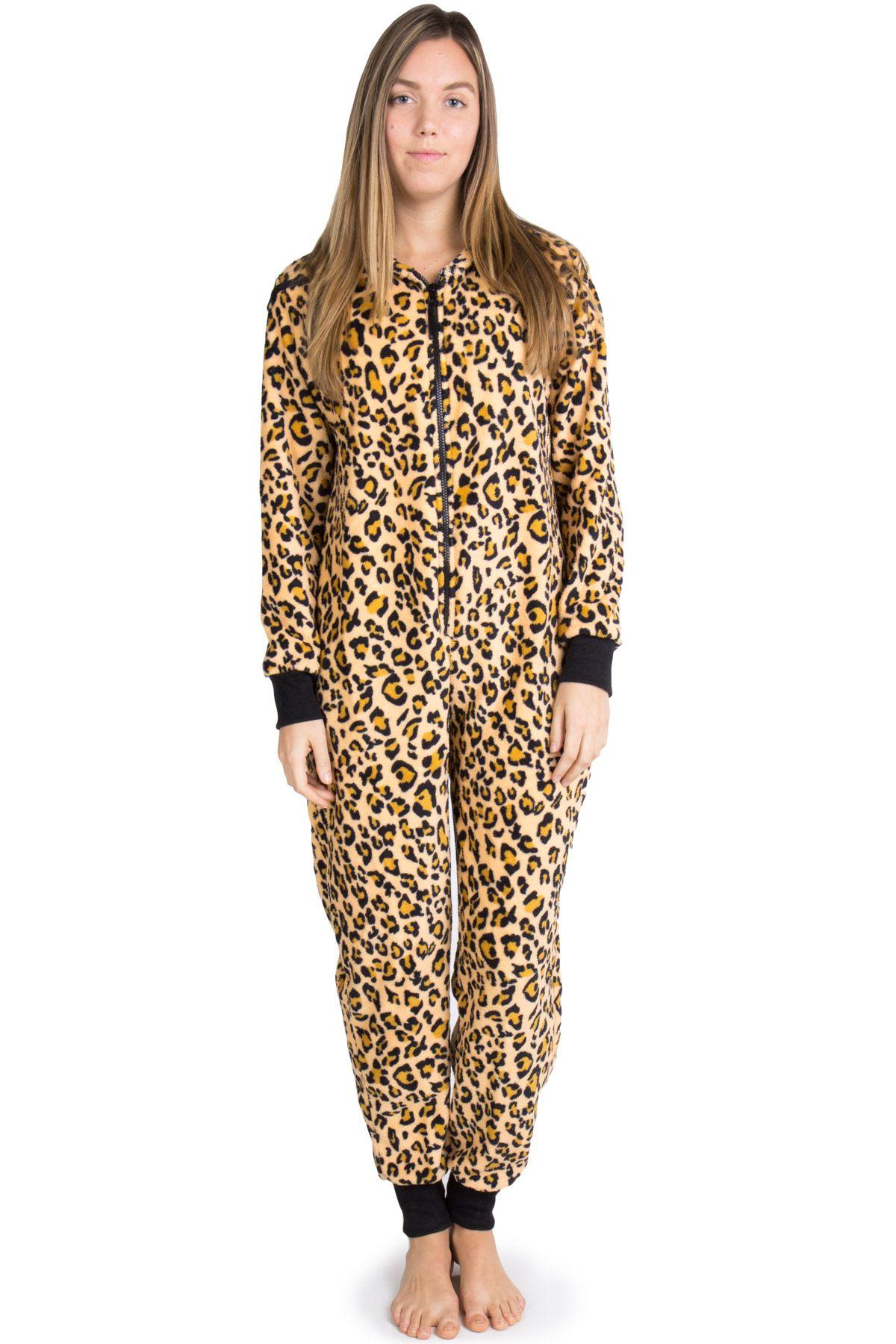 cheetah onesie pajamas  c4b597253