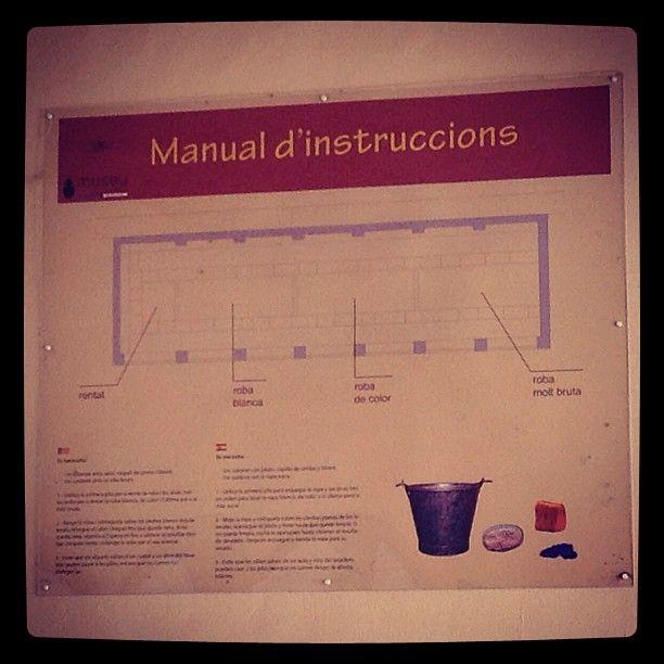 Wow! Antiguo lavadero #oldlaundry manual de instrucciones todavía en uso #feriadeagost #Alicante #Spain costums