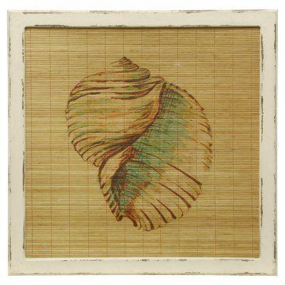 StyleCraft Seashell Bamboo Screen Wall Art Wall art