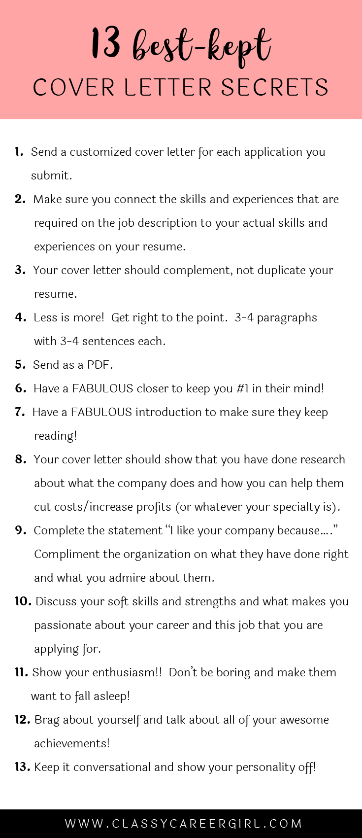 The  BestKept Cover Letter Secrets  Small Things Career