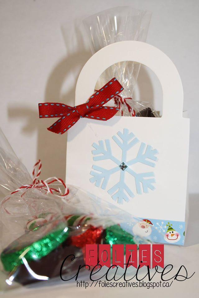Christmas treat bag by Folies Créatives