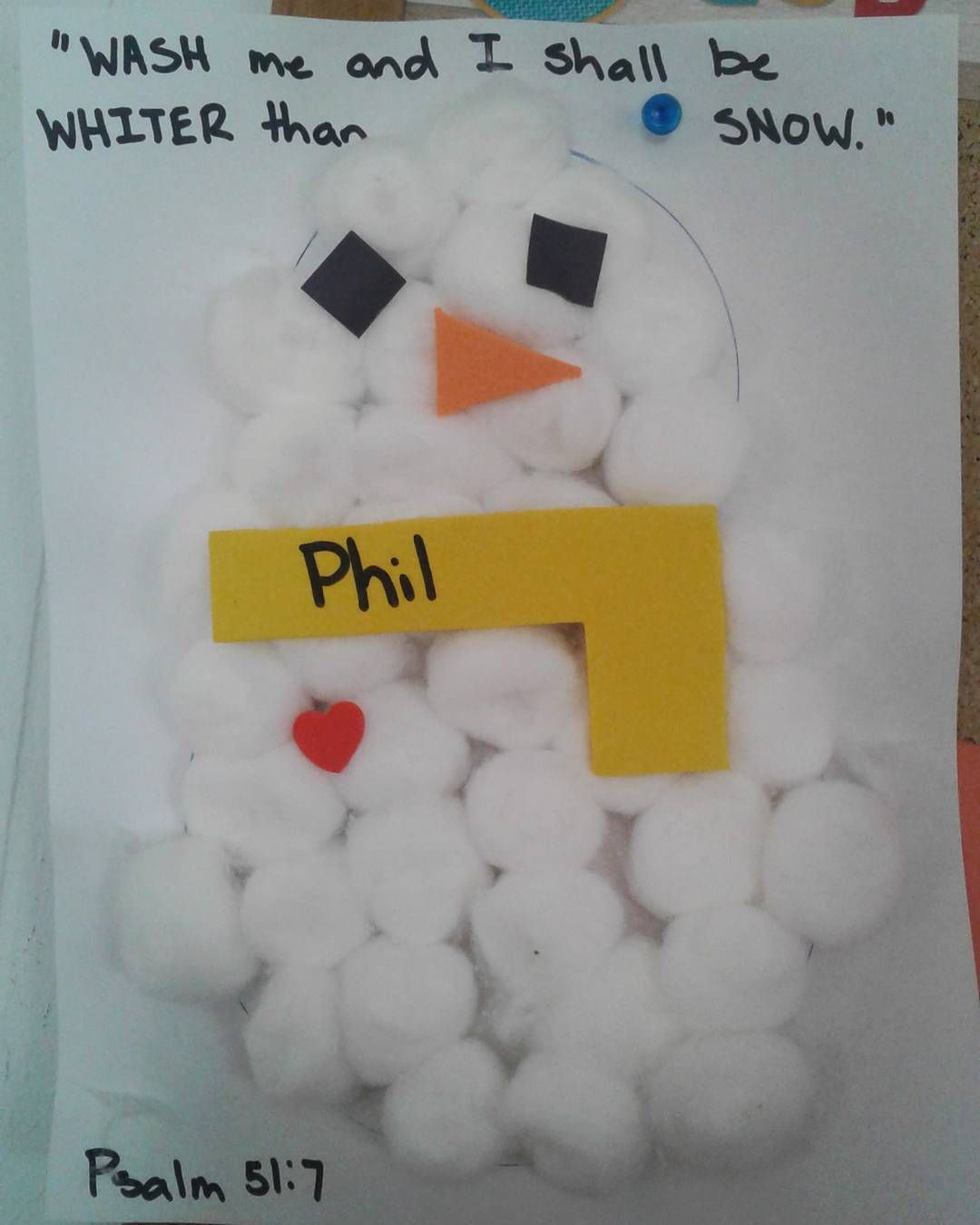 10 mentions J'aime, 2 commentaires - @sundayschoolcrafts sur Instagram: «Wash me and I shall be whiter than snow. Psalm 51:7 #sundayschool #craft #prek #psalm…»