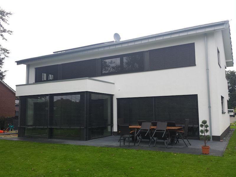 moderne fenster eckfenster mit raffstore pinterest arch modern and house fensterdeko wohnzimmer