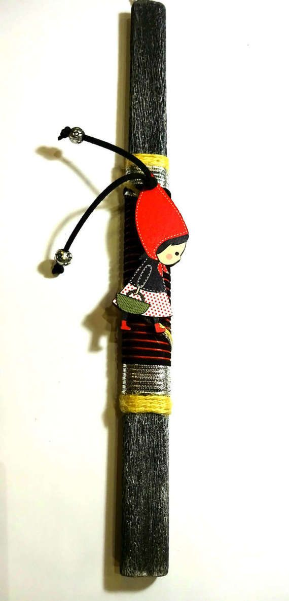 Easter candle orthodox easter gift greek easter lambada godmother easter candle orthodox easter gift greek easter lambada godmother godfathers gift red riding hood pendant handmade negle Images