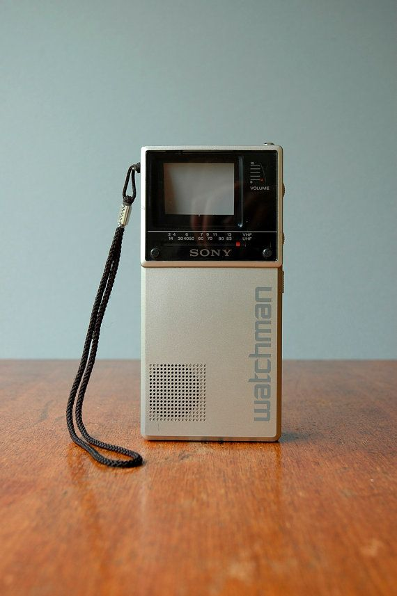 Portable T V S : Vintage sony watchman portable television with case model