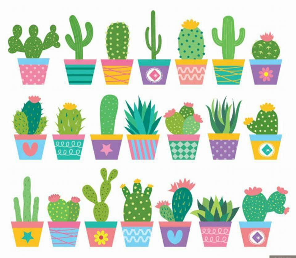 Pin By Valentina Navarro On Plants Cactus Clipart Cactus Drawing Cactus