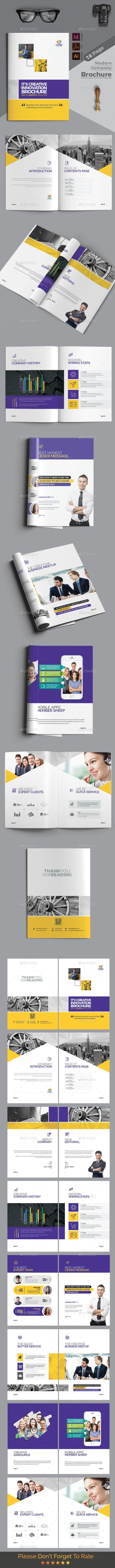Brochure  Ai Illustrator Brochure Template And Brochures