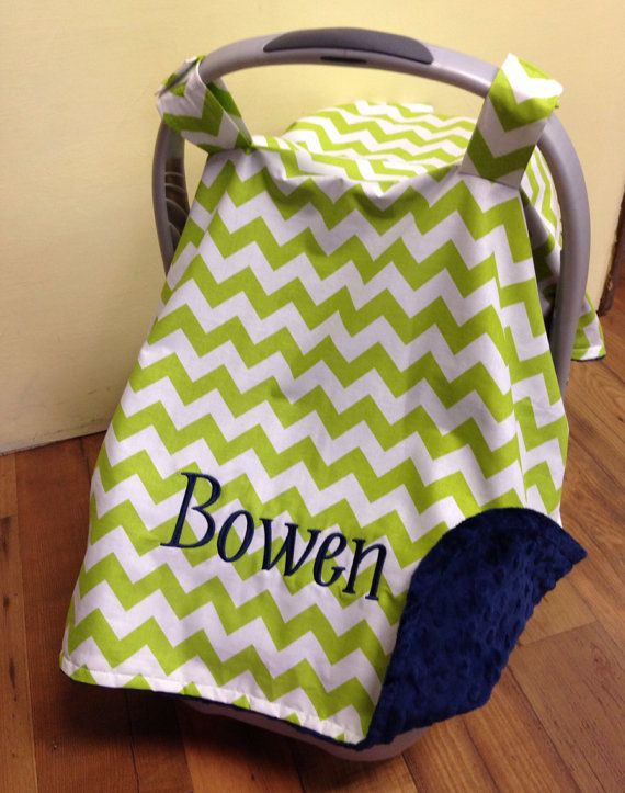 Personalized Car Seat Canopy Boy Or Girl Carseat Cover Monogrammed