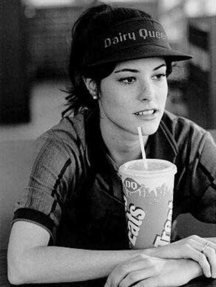 """Parker Posey. """"There will always be a place for me here at the DQ"""" Waiting on Gufman"""