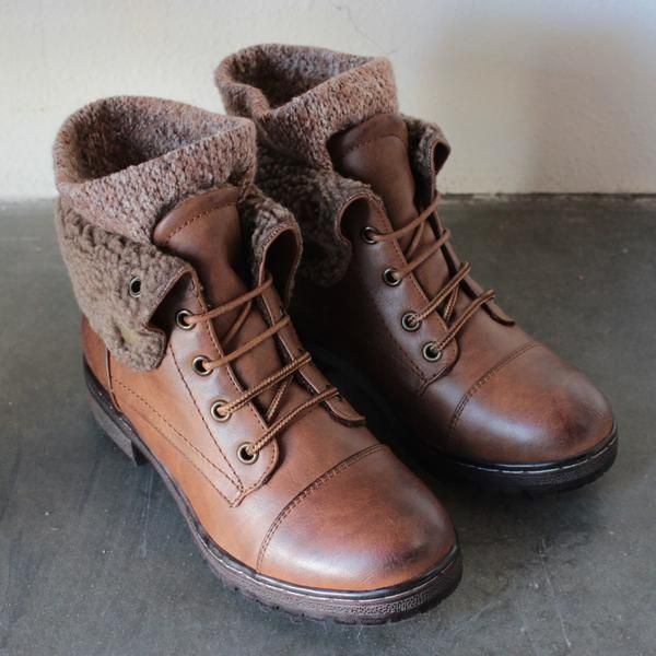 Timberland Men's Ankle Boots Fashion Retro Style Patchwork Lace Up Chic Shoes