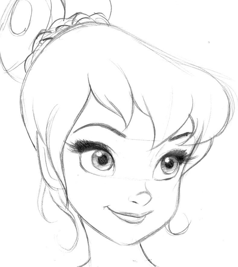 Tinker Bell Pencil Sketch Such A Simple Beautiful Drawing