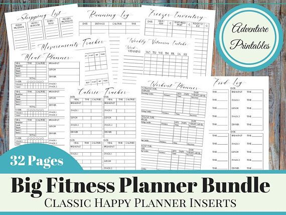weight loss planner printable