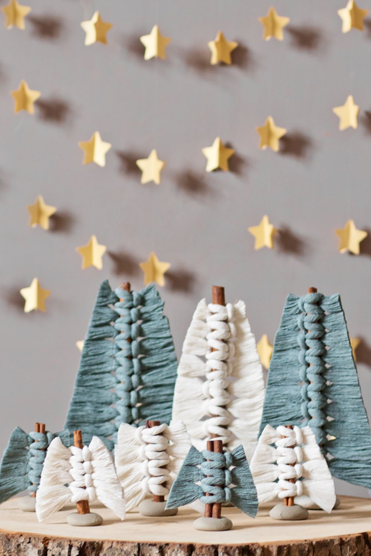 Photo of Weihnachtsbäumchen mit Zimt und Makramee – mo-niversum