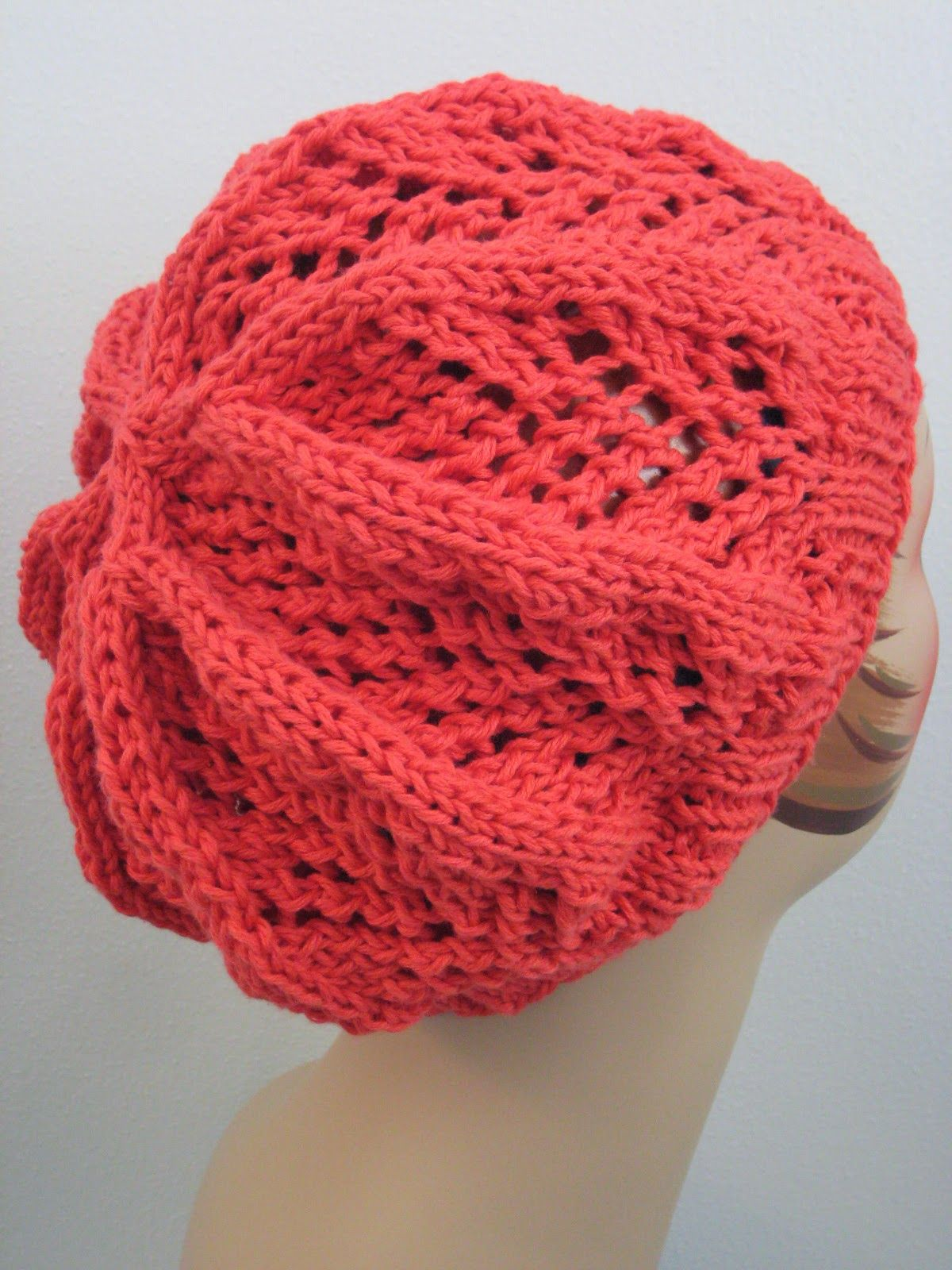 Fan Lace Hat - knit with 125 yards of worsted-weight yarn and size 8 ...