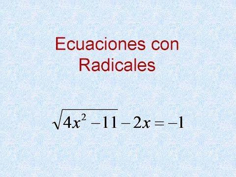 Ecuaciones Con Radicales Ejercicio Resuelto 8 Ecuaciones Con Radicales Ecuaciones Ejercicios Resueltos