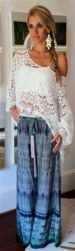 Bohemian top and skirt