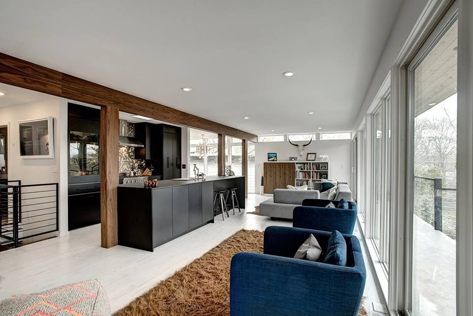 Mid-century modern home renovation in East Grand Rapids, MI. Custom ...