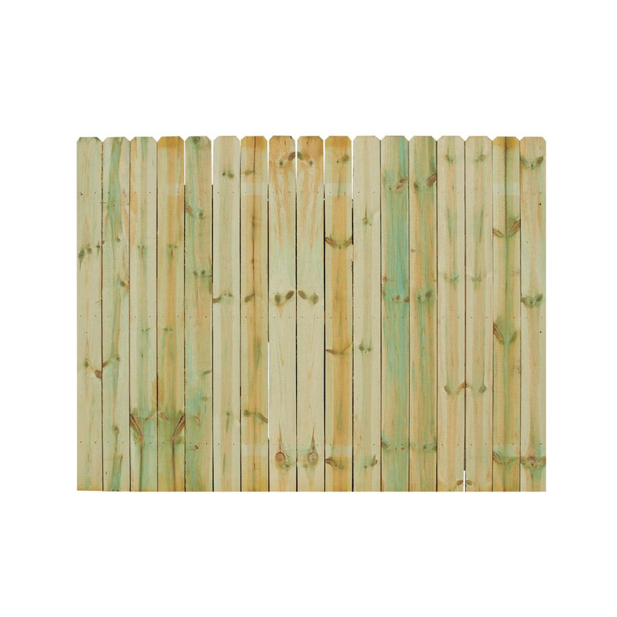 Severe Weather Natural Pressure Treated Spruce Privacy Fence Panel ...
