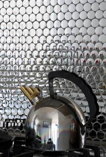 Metallic Penny Tile Kitchen Splashback Too Gorgeous Stainless