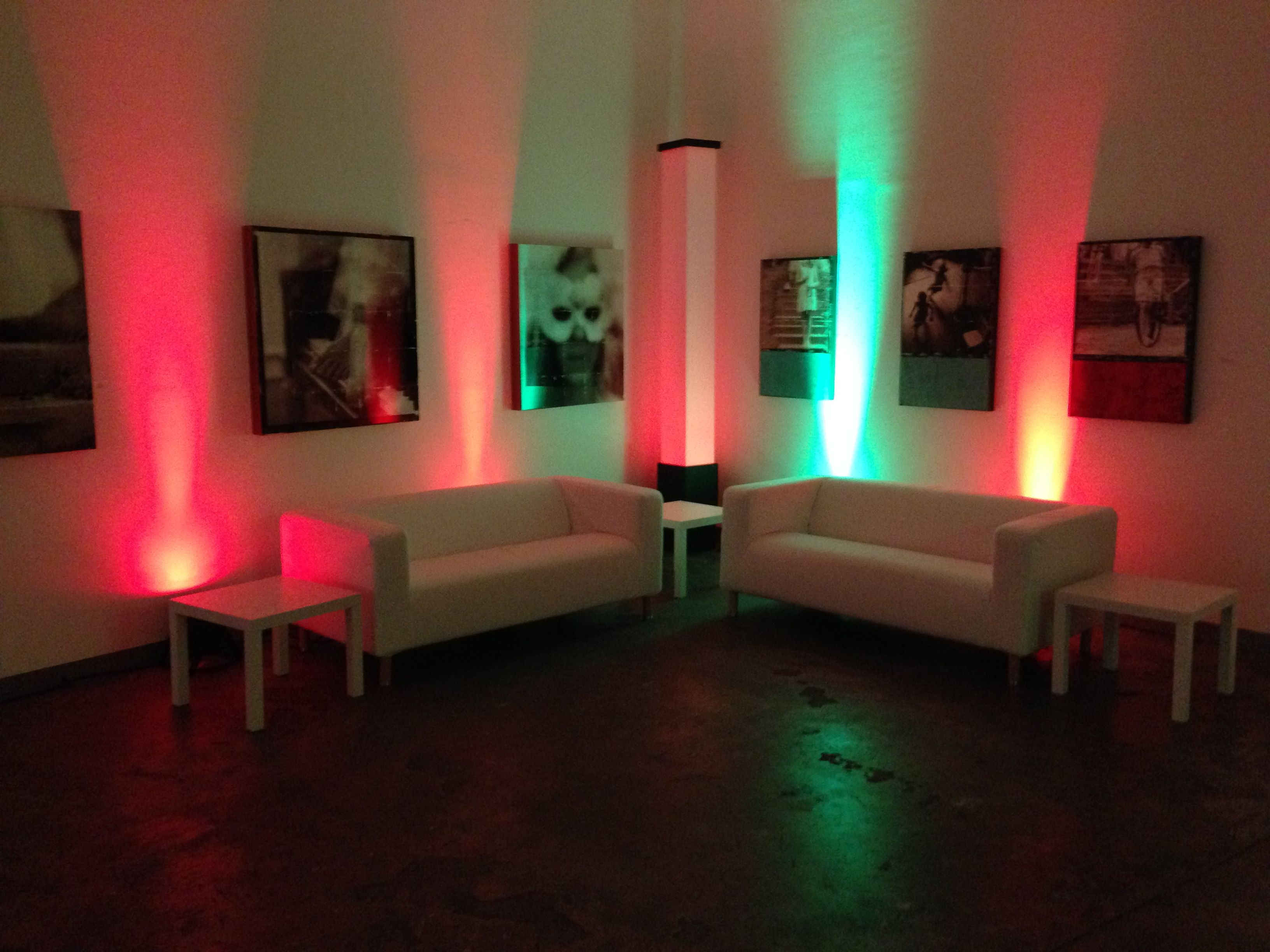 We Have Great Party Lighting For Rent, Including These LED Wireless  Uplights. The Battery