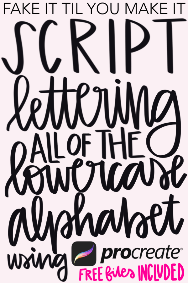 Lettering Tutorial: Lowercase Script