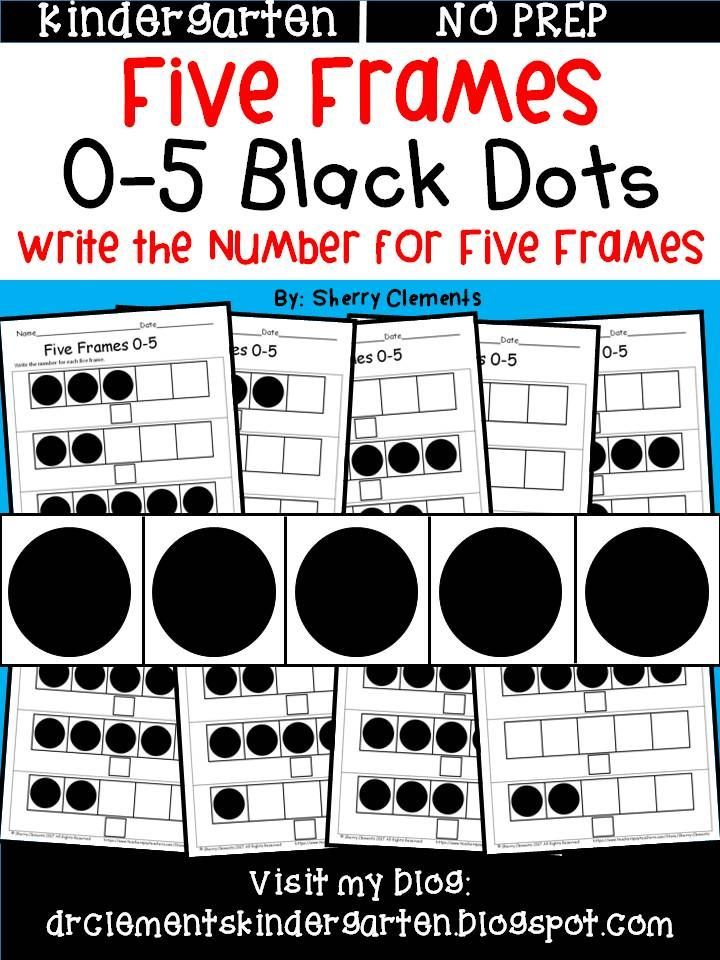 Five Frames (Black Dots) | Sherry Clements - Teachers Pay Teachers ...