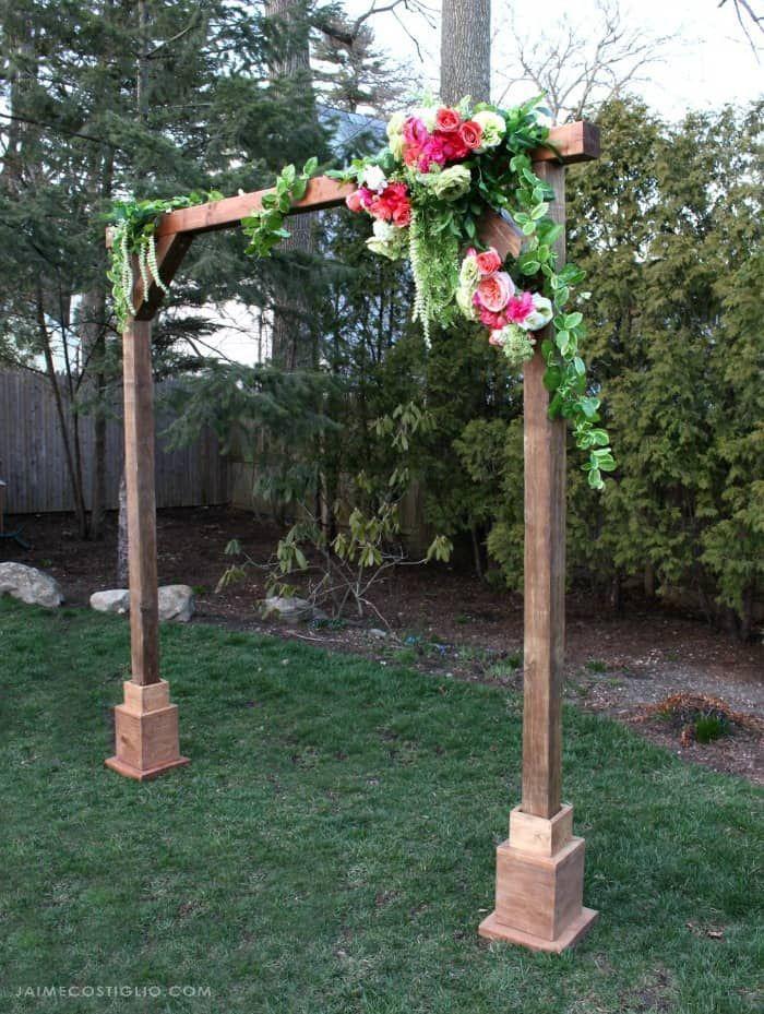DIY Self Standing Wood Arch Wood wedding arches, Wedding