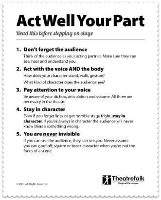 Free Poster - Common Mistakes Beginning Actors Make