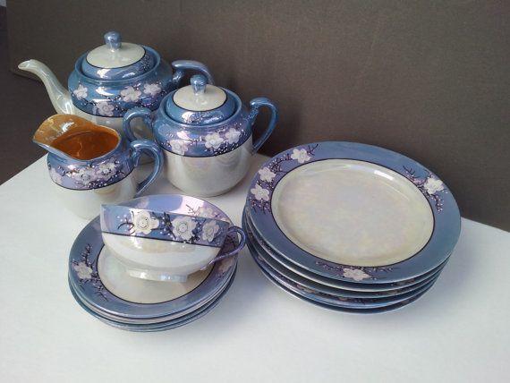 Vintage Cherry Blossom Lusterware Tea Set 22 By Gildedlylly