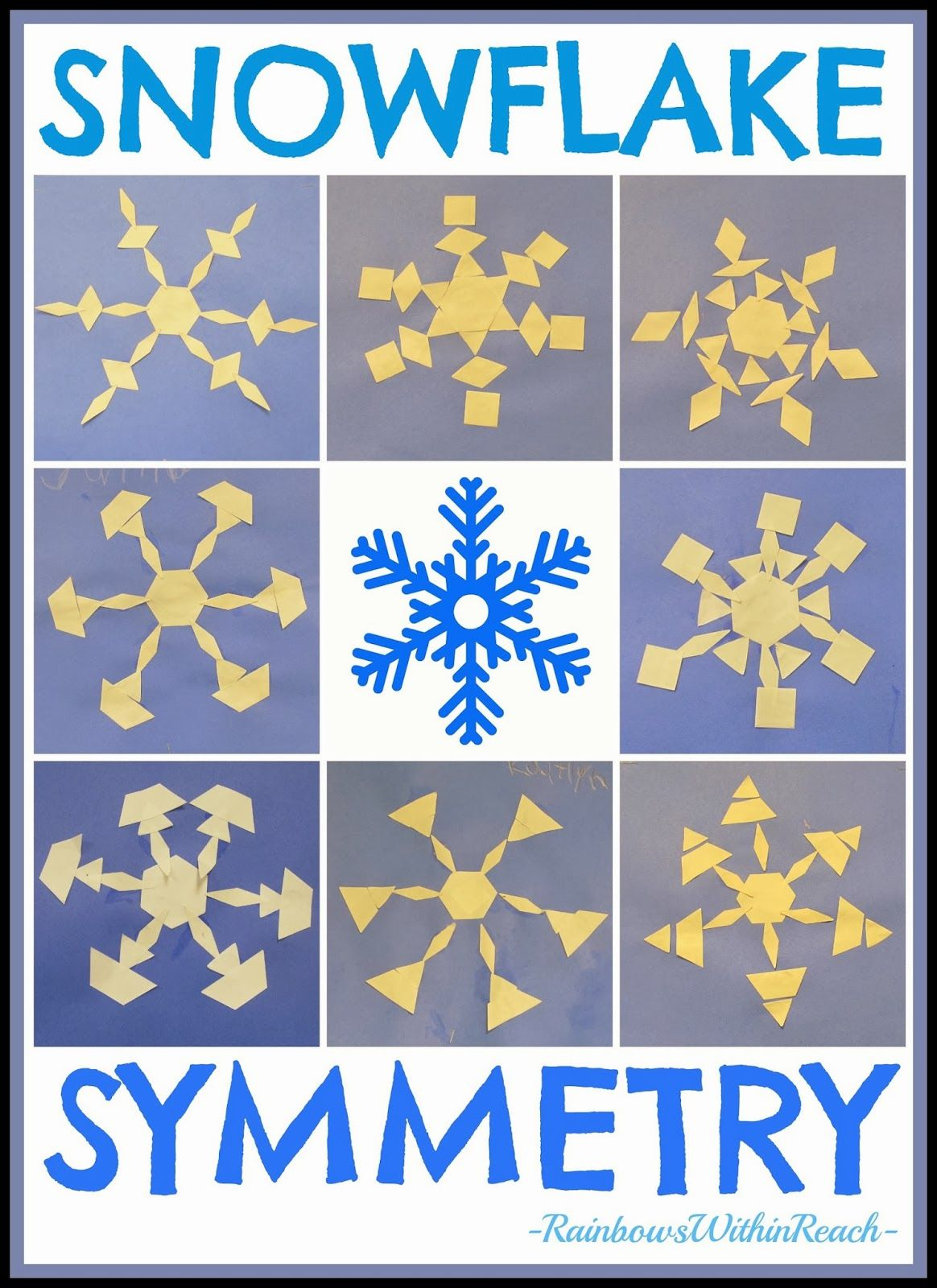 Snowflake Symmetry In Kindergarten Anchor Charts