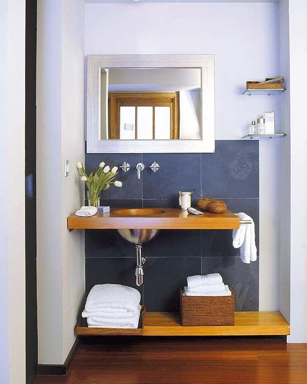 Cómo decorar baños pequeños   Decorar baños pequeños, Decorar baños ...