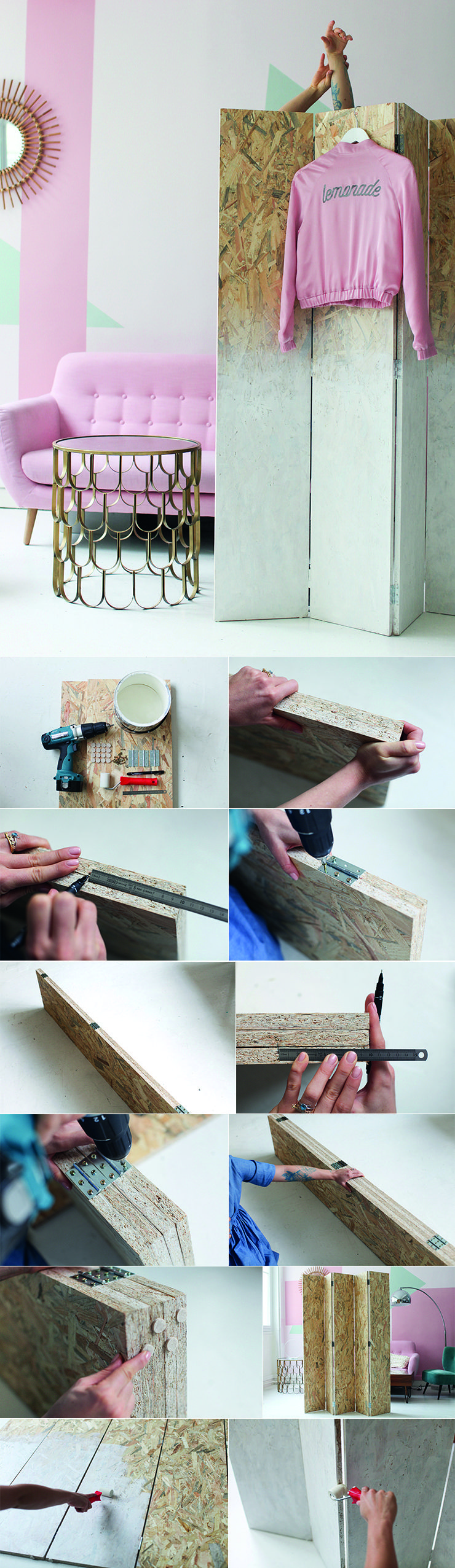 Pin von monochrome diy basteln und selber machen auf diy basteln selbst gemacht m bel - Paravent selbst gestalten ...