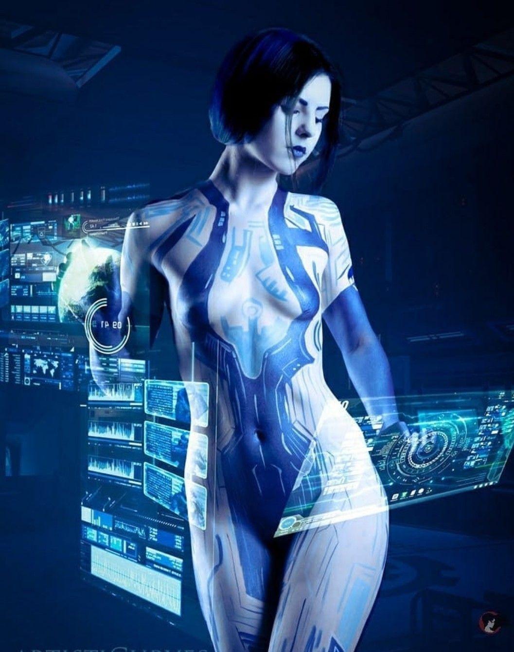 Cortana Portrait by Biseuse on DeviantArt