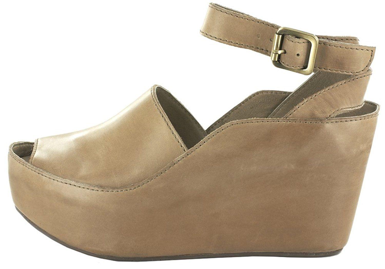 91d96b08f2b Chocolat Blu Women s Wisper Ankle Wrap Buckle Chunky Platform Wedge Sandal  -- To view further