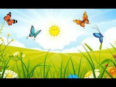 Background infantil. Background de borboletas. Bac