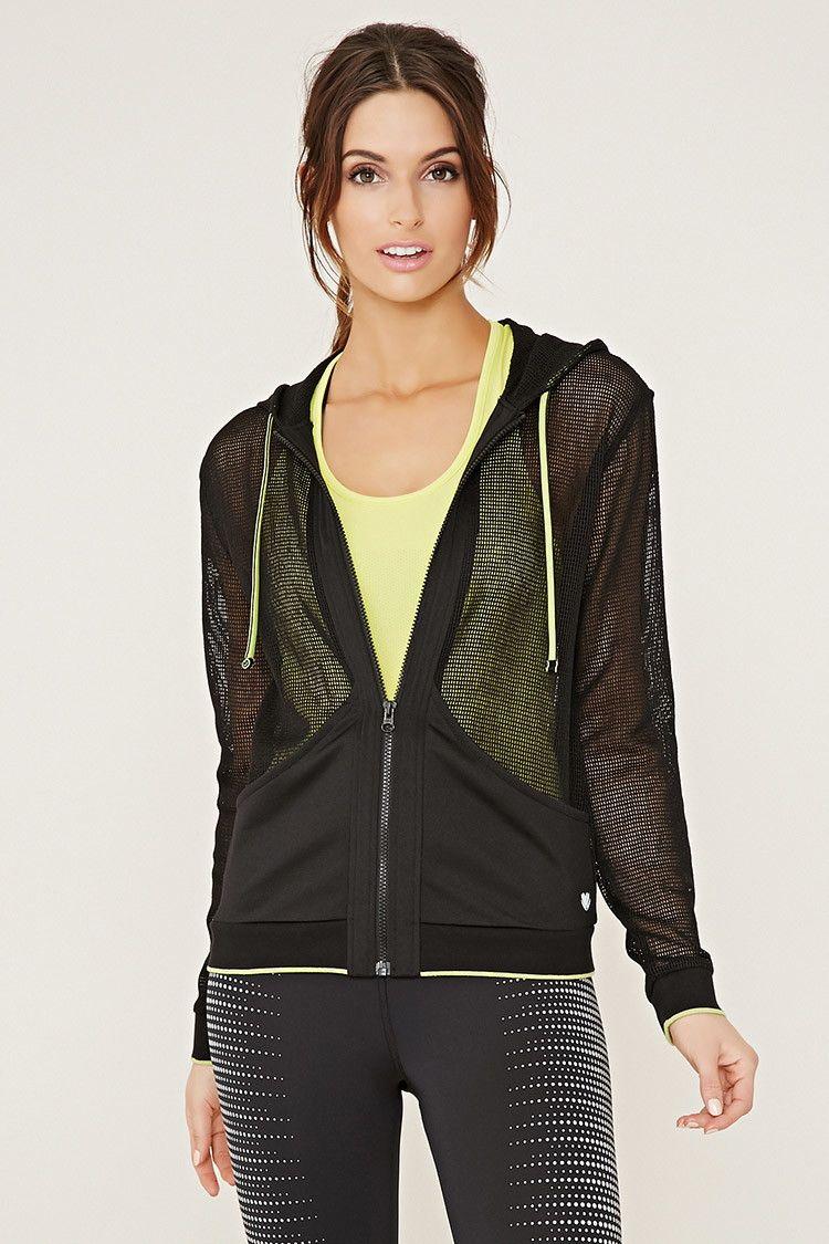 Active Hooded Mesh Jacket Activewear Jackets + Hoodies