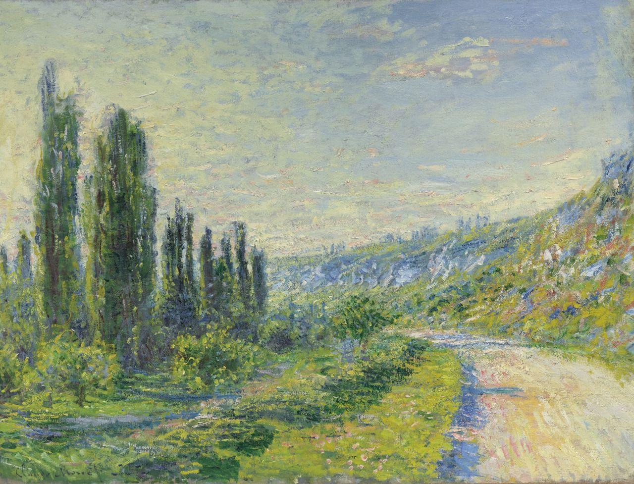 La route de Vétheuil (1880) - Claude Monet | Sanat, Sokak sanatı