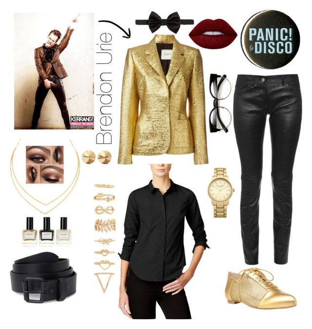"""""""Brendon Urie"""" by bangbang-goodnight on Polyvore featuring Lanvin, Balenciaga, Armani Exchange, Armani Collezioni, Alepel, Topshop, Eddie Borgo, Forever 21, Lana and Lime Crime"""