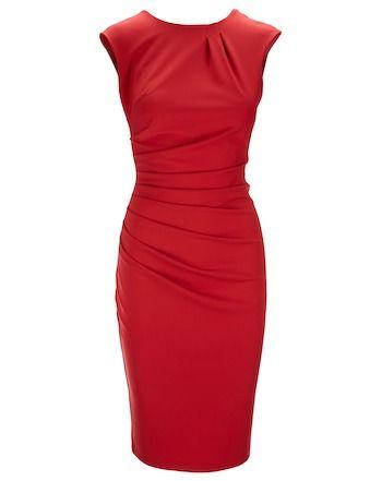 Kleid mit Drapierungen - rot von Rinascimento bei FEINSINN jetzt kaufen | kleidoo