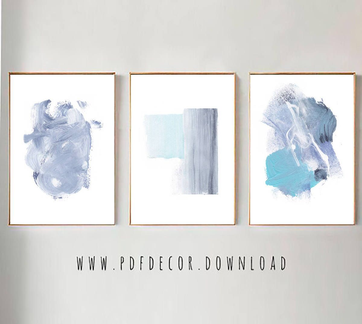 Set Of 3 Abstract Art Set Of 3 Blue Prints Set Of 3 Prints Set Of 3 Wall Art Blue Abstract Set Modern Minimalist B Blue Modern Art Wall Art Prints Prints