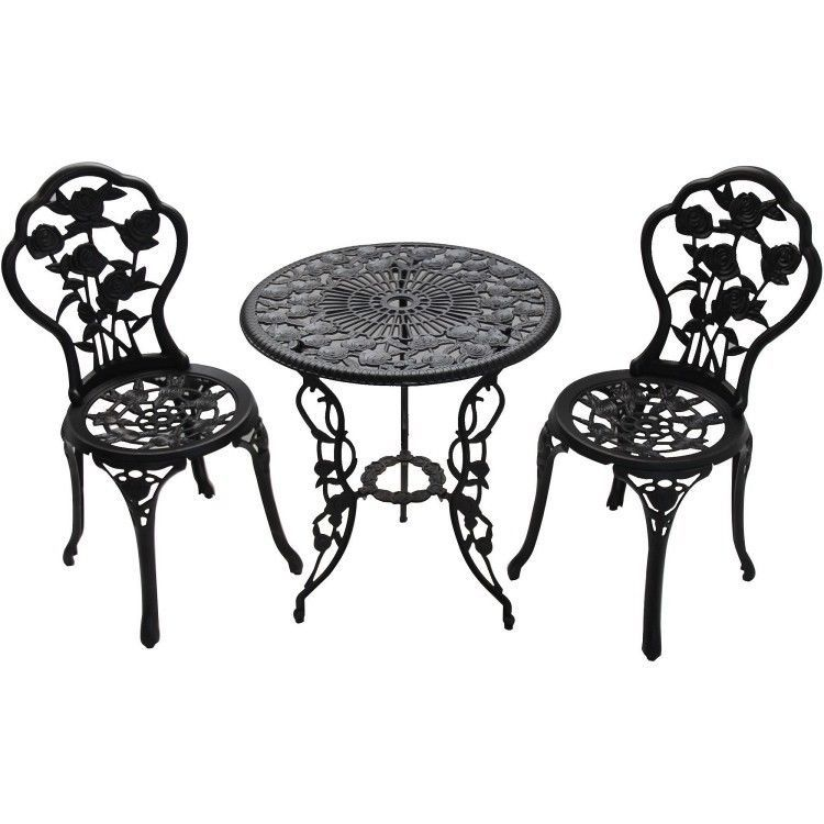 Outdoor Poolside Bistro Set Patio Furniture Lawn Garden Seating 3 ...