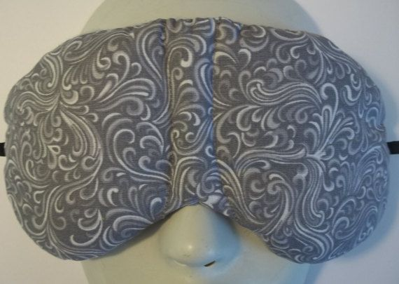 Herbal Hot/Cold Therapy Sleep Mask with adjustable and ...