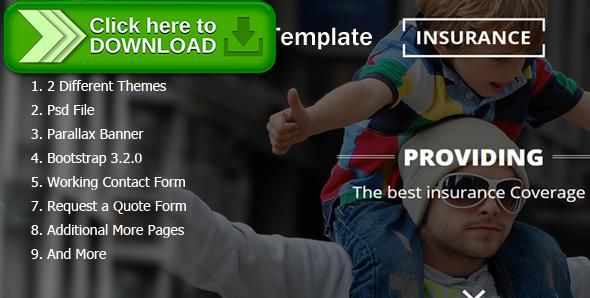 Free nulled Insurance Responsive HTML5 Template download - free quote form template