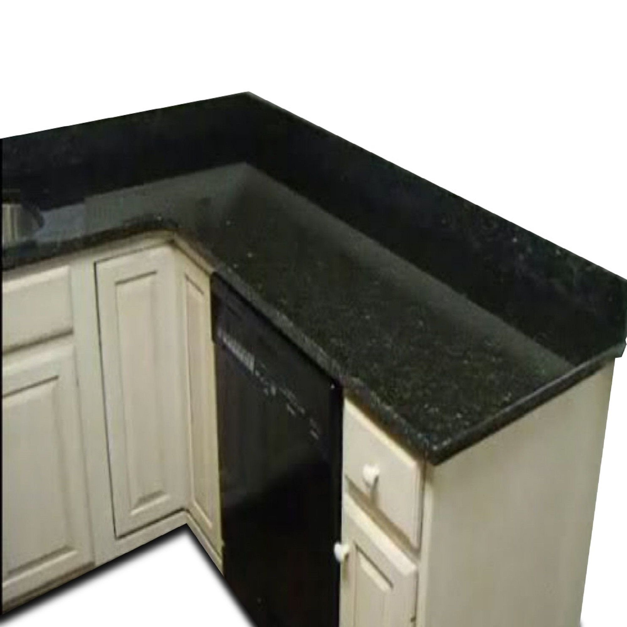Peel And Stick Black Emerald Granite Marble Countertop Vinyl Film