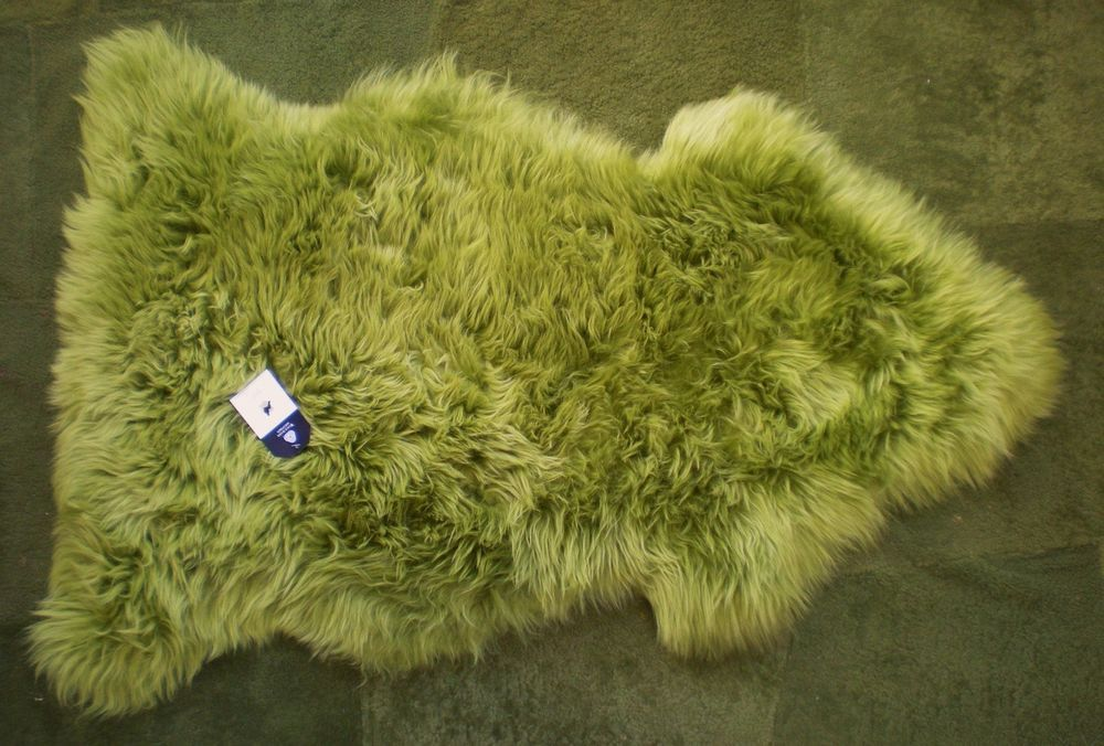 Large 100 Genuine Australian Sheepskin Rug Apple Green