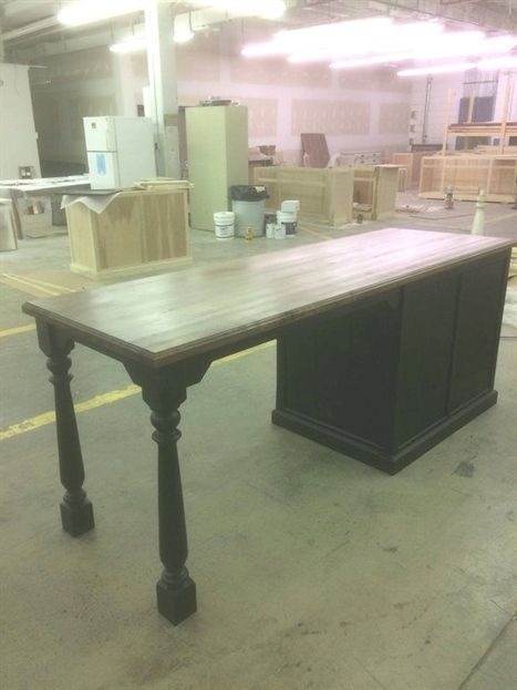 """Cabinet is 48""""x 24"""" and the solid maple top is 96"""" x 26 ..."""