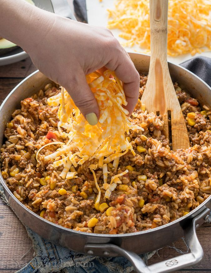 Mexican Beef and Rice Skillet #beefandrice