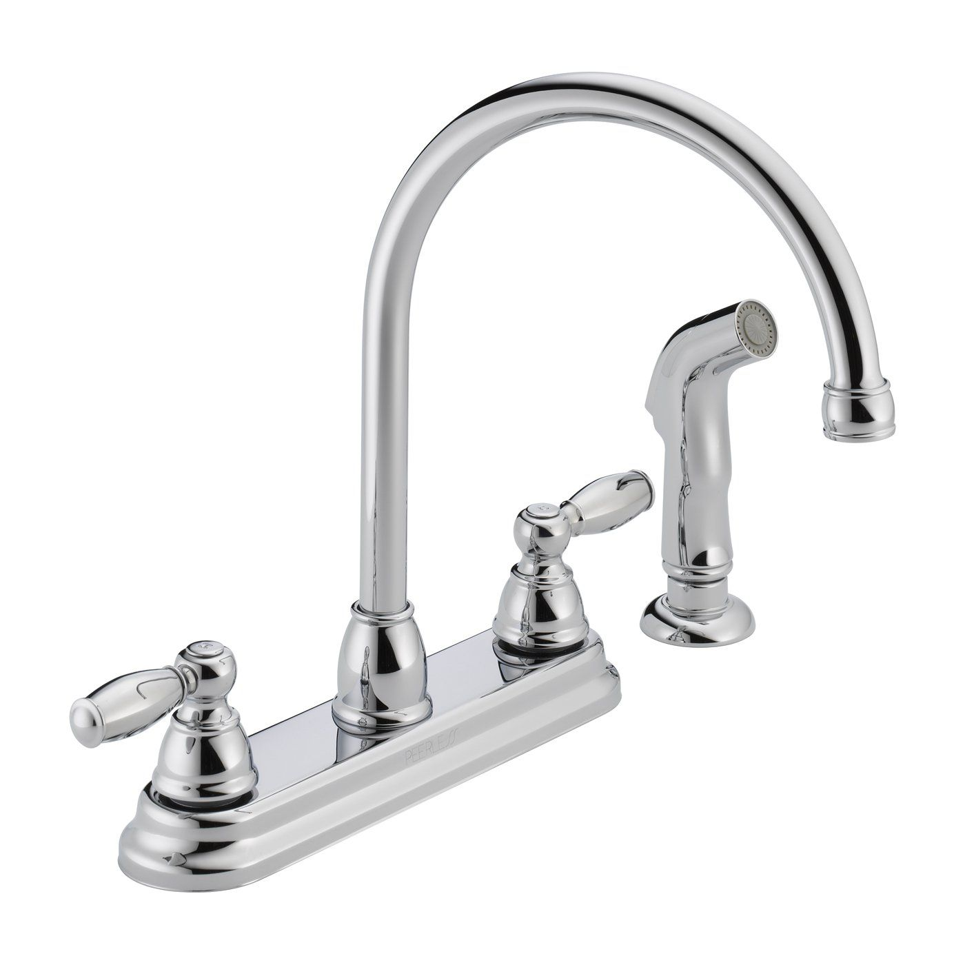 delta faucet apex handle side sprayer kitchen atg pull out ceramic ...