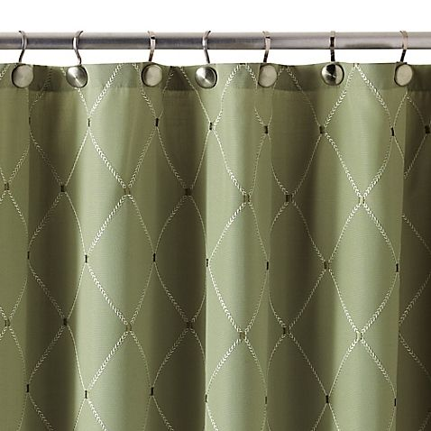 Wellington Shower Curtain In Green Green Shower Curtains Green