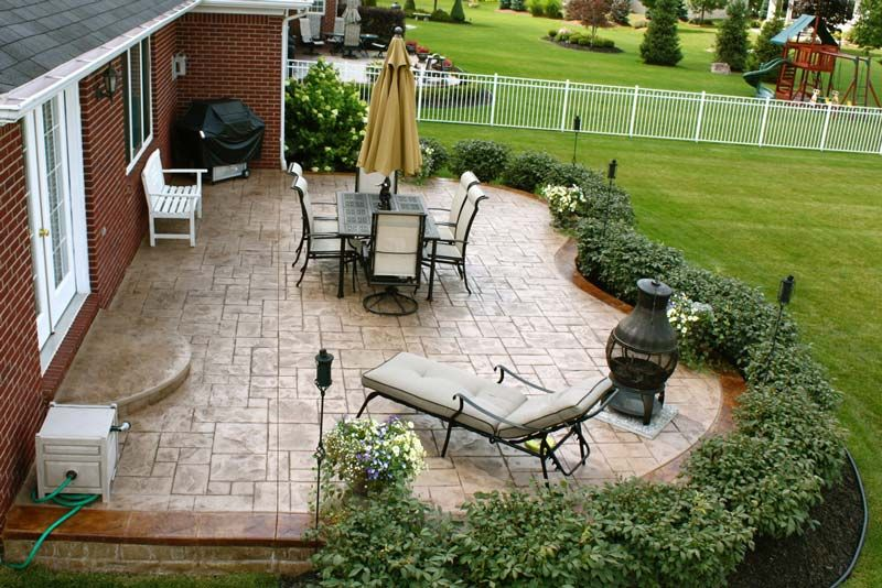 Biondo Cement Landscaping Around Patio Stone Patio Designs Backyard Patio Designs